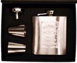 Hipflask with two shot glasses